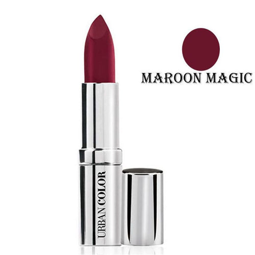 Urban Color Crème Glam Lipstick With Sun Protection- Maroon Magic - 4.2g