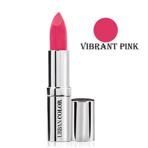 Urban Color Crème Glam Lipstick With Sun Protection- Vibrant Pink - 4.2g
