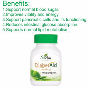 100 Ayurvedic SuAyu Diabet Aid Capsules For Healthy Sugar levels Available