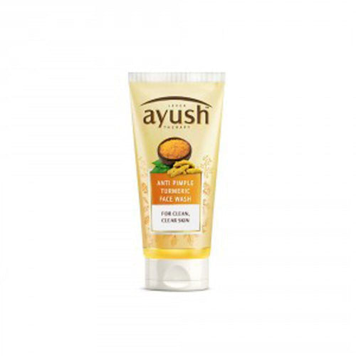 LEVER Ayush Anti Pimple Turmeric Face Wash 80gm For Clean & Clear Skin Available