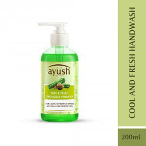 LEVER Ayush Cool Fresh Lemongrass Hand Wash 200ml For Soft, Healthy Hands. Available