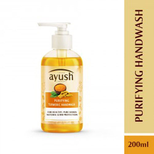 LEVER Ayush Purifying Turmeric Hand Wash 200ml For Soft Healthy Hands Available