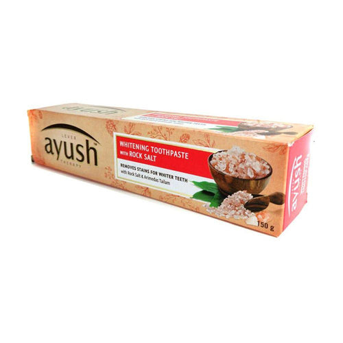 LEVER Ayush Whitening Rock Salt Toothpaste 150GM Available