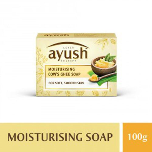 LEVER Ayush Moisturising Cow's Ghee Soap 100GM Available