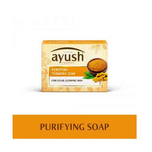 LEVER Ayush Purifying Turmeric Soap 100gm Available