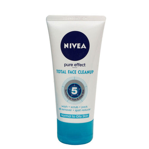 Nivea Total Face Cleanup Face Wash-50ml, 100ml and 150ml -100% Pure Herbal