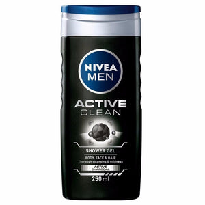 Nivea Men Active Clean Shower Gel 250 ml For Men -100% Pure Herbal