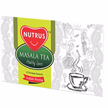 100% Nautral Nutrus Masala Tea 25 Tea Bags For Natural & Healthy