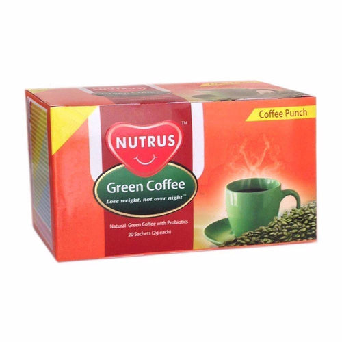 Nutrus Green Coffee Punch-20 Sachets For Natural Fat Burner Health-Conscious