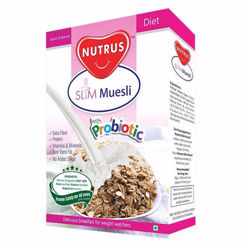 100% Nutrus Probiotic Slim Muesli Natural & Healthy  400 gm Healthcare