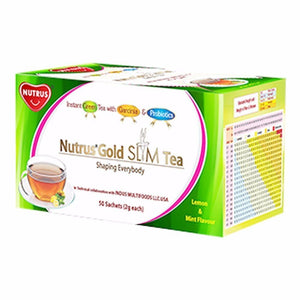 Nutrus Pure & Natural Gold Slim Tea-50 Sachets For Healthy Mind
