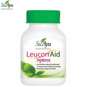 SuAyu LeucorrAid Natural Capsules Control White Discharge  30 Capsules Available