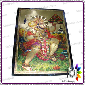 Bajrangbali /Lord Hanuman Carrying the Mountain of Herbs (Sanjeevani) Poster