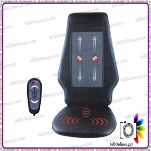 Massage Cushion with Remote, Vibration Roller System and Shiatsu