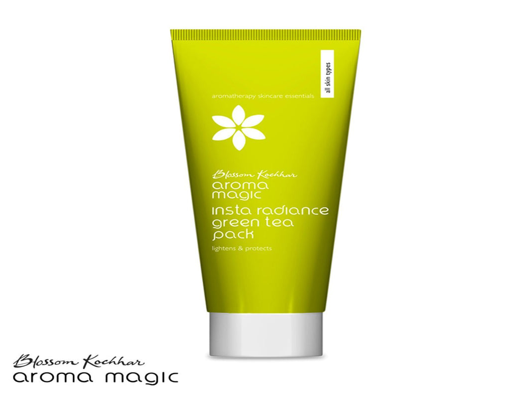 Aroma Magic Insta Radiance Green Tea Pack For All Skin Types - 100gms