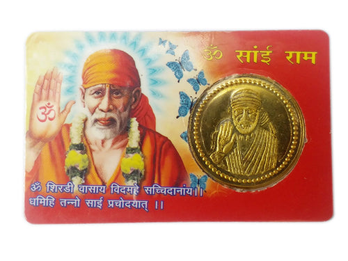 ATM Card Om Sai RAM / Pocket Card / Sai Yantra - Good Luck, Success