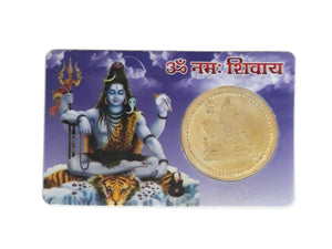 ATM Card - Aum Namah Shivaya / Maha Mrityunjay Yantra - Good Luck, Success