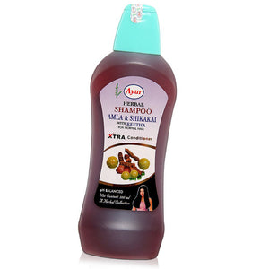 AYUR HERBAL Amla Shikakai With Reetha Shampoo- 200ML