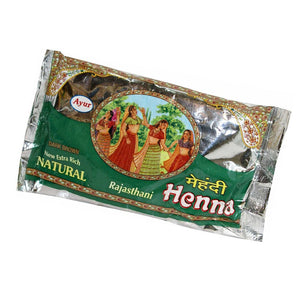 AYUR HERBAL Rajasthani Henna (Mehndi) Powder - 200 Gms