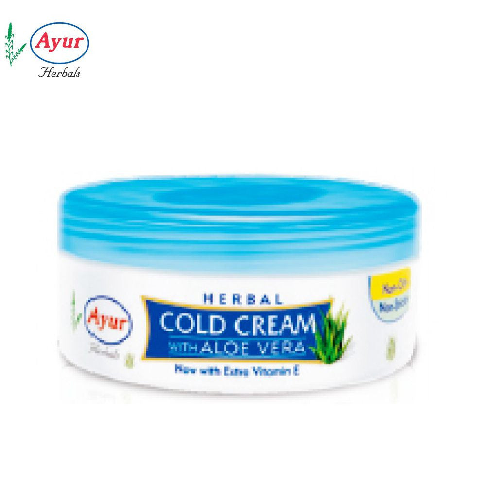 AYUR HERBAL Cold Cream With Aloe Vera For Skin Care - 200ml