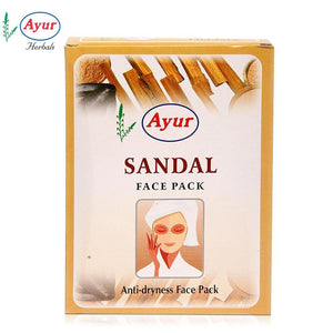 AYUR HERBAL Sandal Face Pack For Normal To Dry Skin - 100Gms