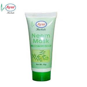 AYUR HERBAL Neem Mask For Oily Irritated And Acne Prone Skin-50Gms