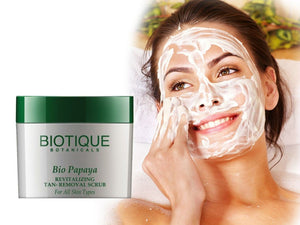 Biotique Papaya Revitalizing Tan-Removal Scrub For All Skin Types- 75gm/235 Gms Available