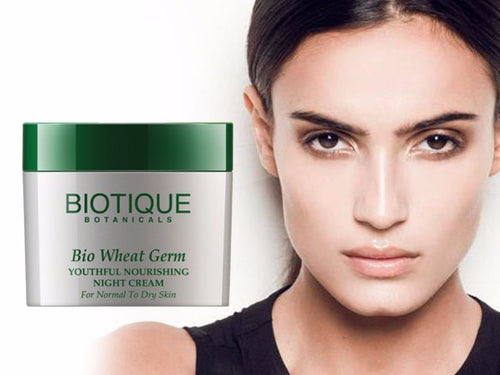 Bio Wheat Germ Youthful Nourishing Night Cream- 50gm,175gm- sunflower and almond oil Available
