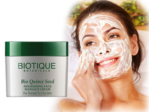 Bio Quince Seed Nourishing Face Massage Cream- Smoothness And Youthful -50gm, 175 Gm Available