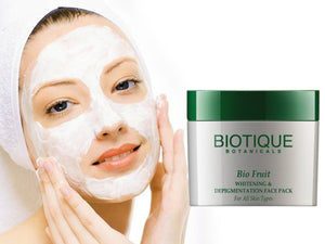 Bio Fruit Whitening&Depigmentation Face Pack-All Skin Types-Flawless Look-75gm,235gm Available
