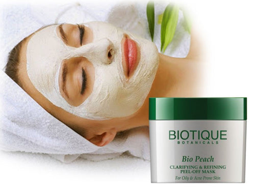 Bio Peach Clarifying & Refining Peel-Off Mask For Oily & Acne Prone Skin - 50gm,175gm Available
