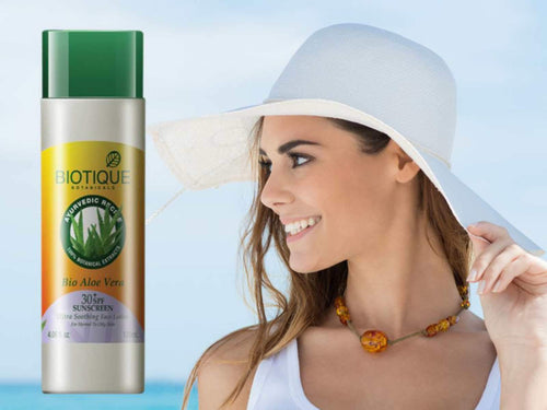 Bio Aloe Vera Sunscreen Ultra Soothing Face Lotion For Normal & Oily Skin-120ml Available