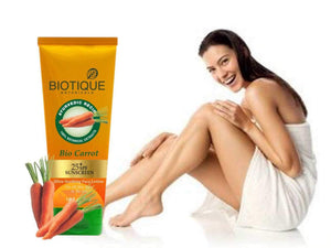 Bio Carrot 40+ SPF Sunscreen Ultra Soothing Face lotion - 50ml 100% Organic Available