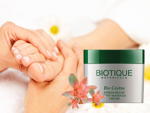 Bio Costus Stress Relief Foot Massage Cream 50gm/175gm - Soothe Tired Feet Available