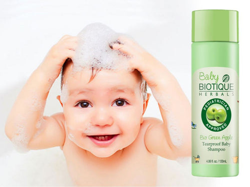 Bio Green Apple Tear Proof Baby Shampoo 120ml -Pure Natural Available