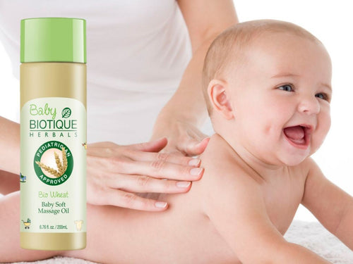 Bio Wheat Germ Baby Soft Massage Oil 200ml -Relieves Diaper Rash Available