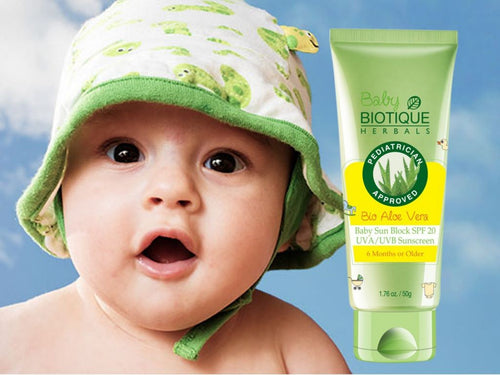 Bio Aloe Vera Baby SPF 20 UVA/UVB Sunscreen 6 Month Or Older 50Gm-Protects Skin Available