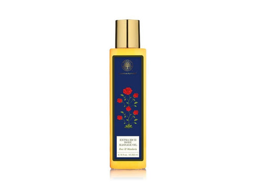 Forest Essential Extra Rich Almond Body Massage Oil Rose & Mandarin Available