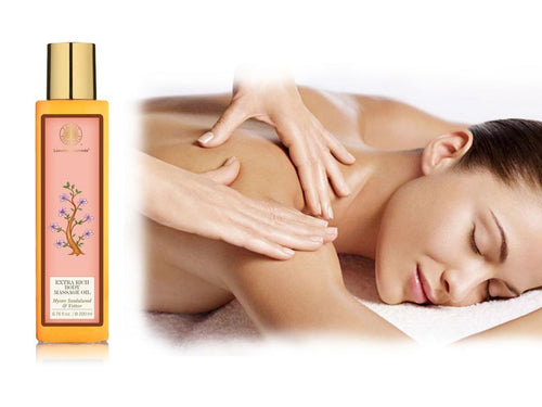 Forest Essential Almond Body Massage Oil Mysore Sandalwood & Vetiver-Rejuvenates Available
