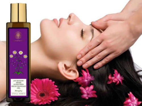 Forests Essential Ayurvedic Bhring Raj Herbal Enriched Head Massage Oil Available