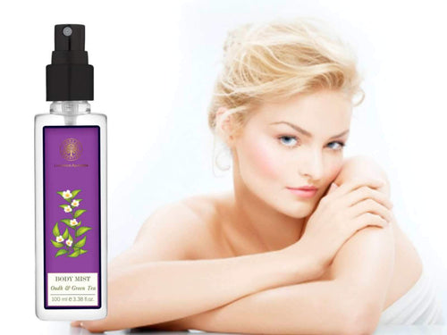 Forests Essential Green Tea & Oudh Body Mist Leaves The Body Scented For Hours Available