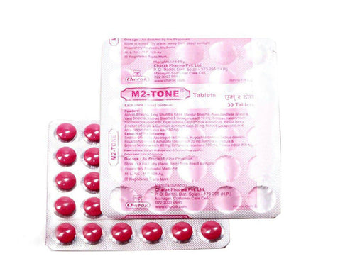 Charak M2TONE Tablets For Irregular Periods  Unexplained Female Infertility