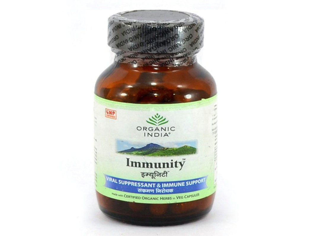 Organic India Immunity Herbal Protect Viral Fever Dengue Cold - 60 Capsules