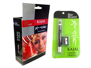 Blue Heaven Waterproof Xpression Black Kajal Pencil With Sharpener - 2.5 gms