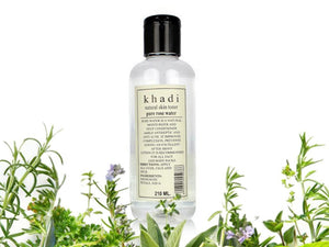 Khadi Natural Skin Toner Herbal Pure Rose Water For All Skin Types - 210ml