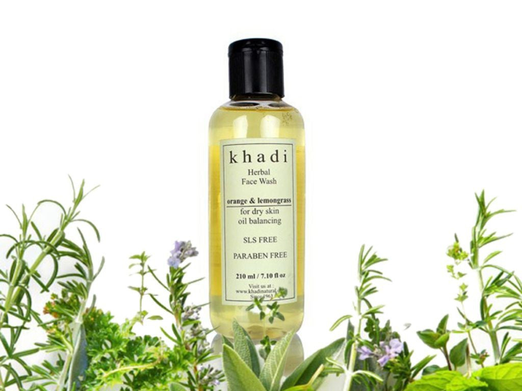 Brand New Khadi Orange And Lemongrass Herbal Face Wash For Dry Skin - 210ml