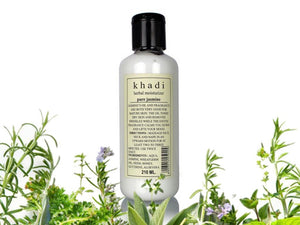 100% Pure Khadi Jasmine Herbal Mosturising Lotion - 210ml - Free Shipping