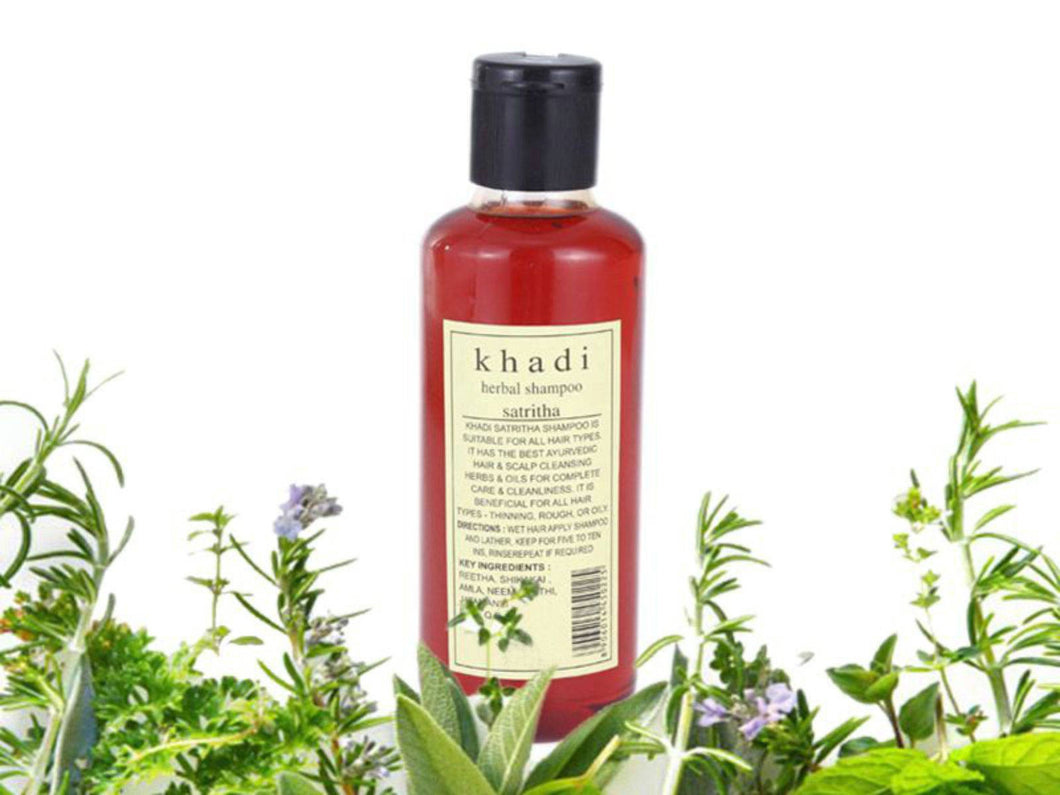 Ayurvedic Khadi Satritha Herbal Shampoo - 210ml - 100% Natural Herbs