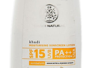 200 Ml Khadi Fast Absorbing Moisturizing Sunscreen Lotion SPF15 100% Natural