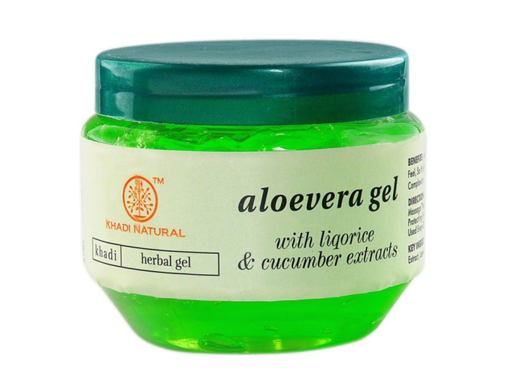 100% Pure Natural Khadi Aloevera Gel (green) -200 Gms